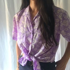 Vintage | Silk Hawaiian Button Down